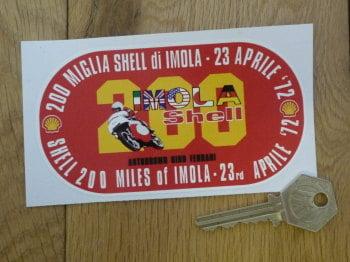 "Imola Shell 200 Miles Autodromo Dino Ferrari Sticker. 4.75""."