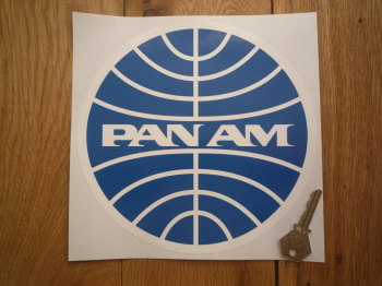 "Pan Am Circular Logo Sticker. 8""."