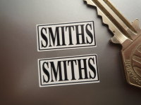 Smiths Heater Labels Black & White Stickers. 1