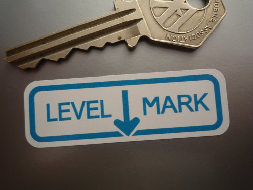Land Rover Series 1 Expansion Tank Level Mark Stickers. 2.25
