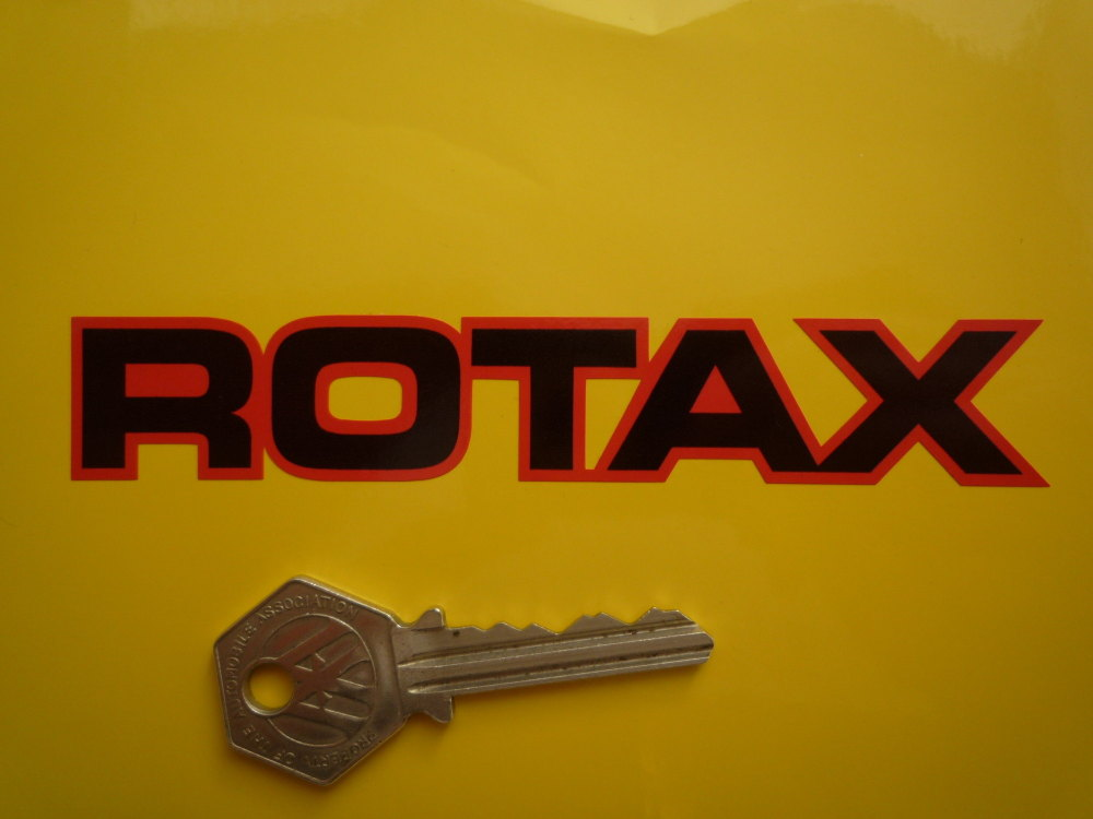 """Rotax Black Centres Cut Text Stickers. 3"""" or 5"""" Pair."""