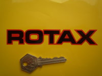 Rotax Black Centres Cut Text Stickers. 3