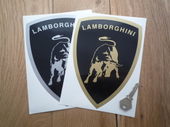 "Lamborghini Shield Style Sticker. 8""."