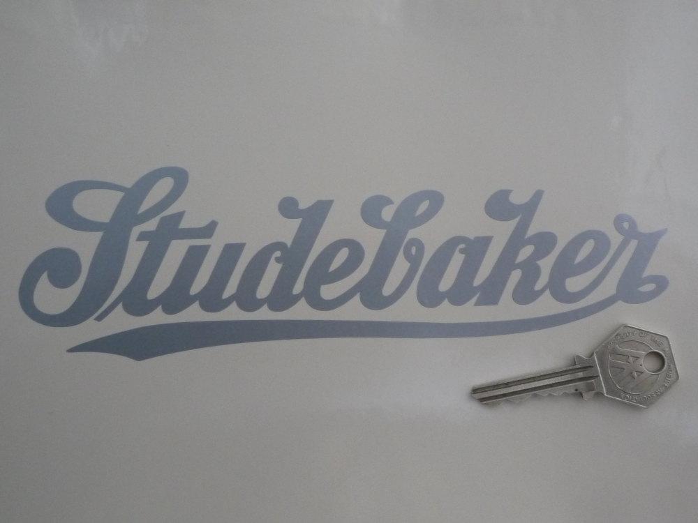 "Studebaker Silver Cut Vinyl Sticker. 8""."