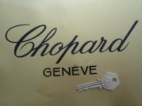 "Chopard Geneve Cut Vinyl Sticker. 6.5"" or 8""."