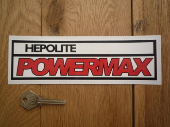 "Hepolite Powermax 70's Style Oblong Sticker. 8""."