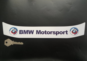 "BMW Motorsport White & Gunsight Style Helmet Visor Sunstrip Sticker. 11.25""."