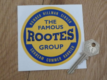 "Rootes The Famous Rootes Group Circular Sticker. 4""."