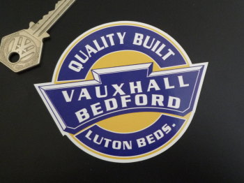 "Vauxhall Bedford Quality Built Sticker. 4""."