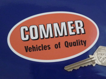 "Commer Vehicles of Quality Oval Sticker. 4.5""."