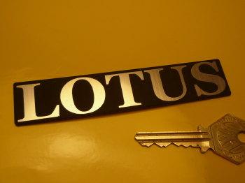 "Lotus Oblong Text Laser Cut Self Adhesive Car Badge. 4.5""."