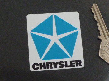 "Chrysler Logo Static Cling Stickers. 2"" Pair."