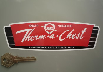 "Therm-a-Chest Retro Cooler Box Sticker. 7""."