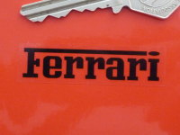 "Ferrari Black on Clear Oblong Stickers. 2"" Pair."