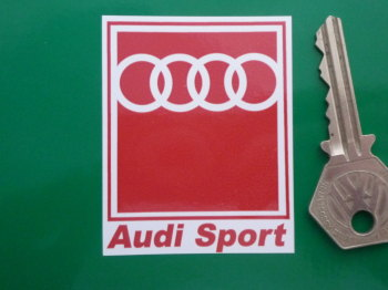 "Audi Sport Oblong Stickers. 2.5"" Pair."