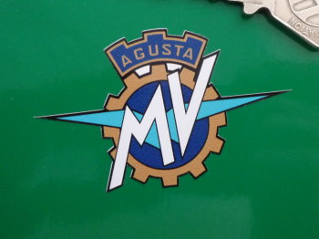 "MV Agusta Full Colour Cut To Shape Stickers. 2.5"" or 2.75"" Pair."