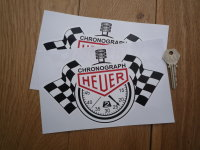 Chronograph Heuer. Stopwatch Style Stickers Pair. Various Sizes.