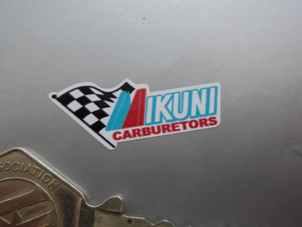 "Mikuni Carburetors Colour Stickers. 1.25"". Set of 4."