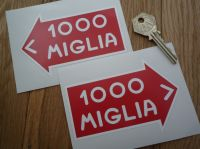 Mille Miglia Directional Static Cling Stickers. 2.5