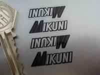 Mikuni Carburetors Black & Clear Stickers. 1.25