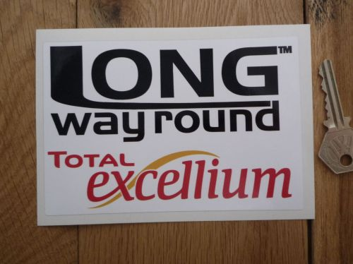 Total excellium long way round sticker 5 5
