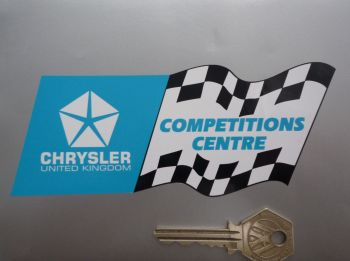 "Chrysler United Kingdom Competitions Centre Sticker. 5.5""."