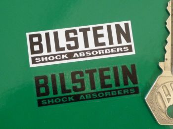 "Bilstein Shock Absorbers Oblong Stickers. Set of 4. 2""."