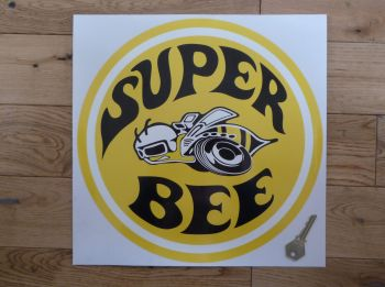 "Dodge Plymouth Super Bee Yellow Sticker. 12""."