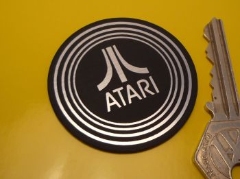 Atari Style Laser Cut Self Adhesive Badge. 2""