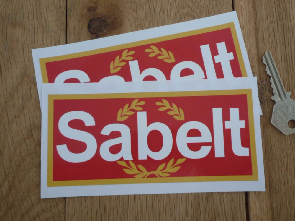 """Sabelt Garland Style Oblong Stickers. 6"""" Pair."""