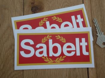 "Sabelt Garland Style Oblong Stickers. 6"" Pair."