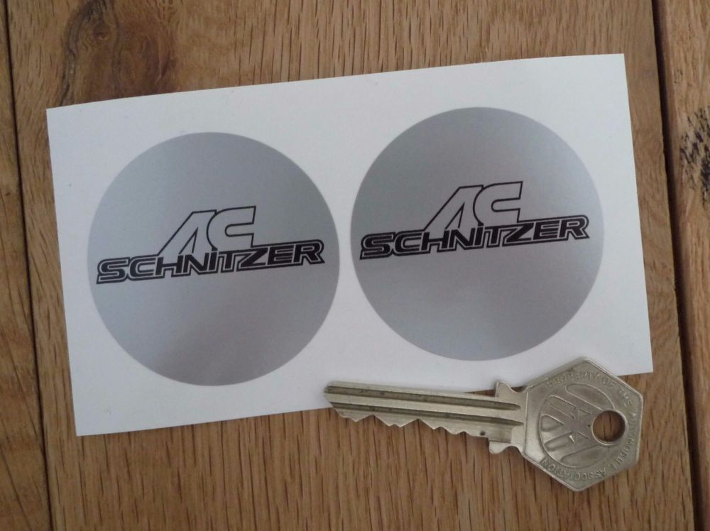 AC Schnitzer Wheel Centre Style Stickers. 50mm or 75mm Pair.