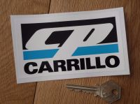 "Carrillo Oblong Sticker. 4.75"" or 7""."