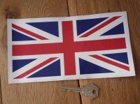 Union Jack Full Colour Thin Oblong Sticker - 5