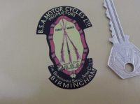 BSA Piled Arms Stickers. Simple Cut.  For Dark Background. 2