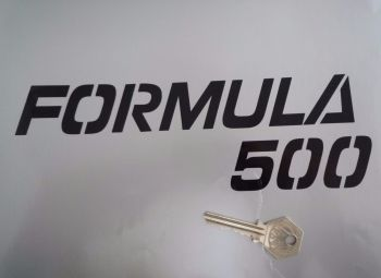 "Laverda Formula 500 Black Cut Vinyl Text Sticker. 8.5""."