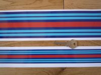 "Martini Racing Plain Body Stripe Style Sticker. 55.5"" long by 0.75"", 1.5"", 3"", 4"", or 6"" wide."