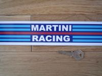 "Martini Racing Body Stripe Style Sticker. 40"" long by 2"" wide."