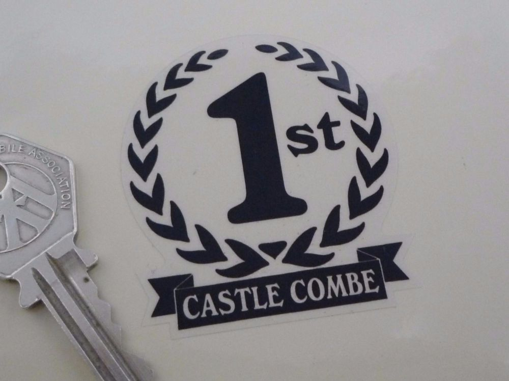"""Castle Combe 1st, 2nd & 3rd Podium Garland Stickers. 2""""."""