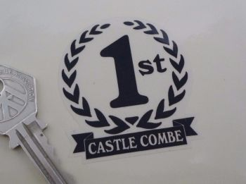 "Castle Combe 1st, 2nd & 3rd Podium Garland Stickers. 2""."