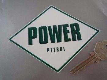 """Power Petrol Diamond Sticker. 5"""", 8"""", or 11""""."""
