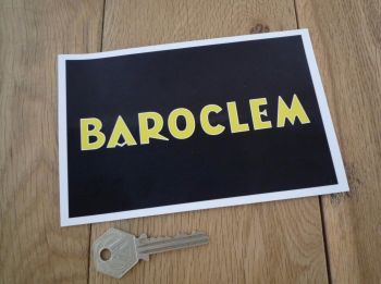 "Baroclem Black & Yellow Oblong Sticker. 6""."