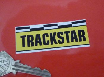 """Trackstar Oblong Stickers. 3"""" or 6"""" Pair."""