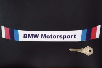 "BMW Motorsport Stripes Style Helmet Visor Sunstrip Sticker. 11.25""."