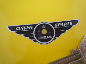 "Sunbeam Genuine Spares Winged Logo Stickers. 2.75"" Pair."