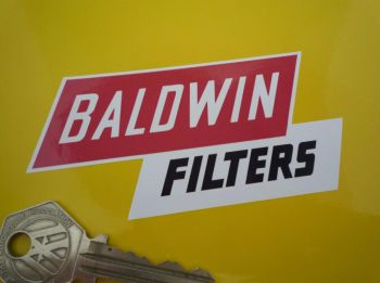 "Baldwin Filters Shaped Sticker. 4""."