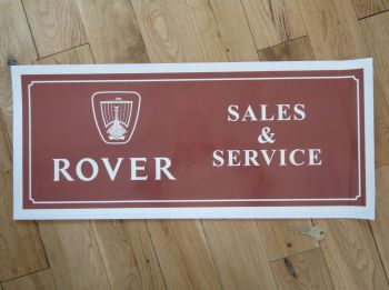 "Rover Sales & Service Sticker. 23.5""."