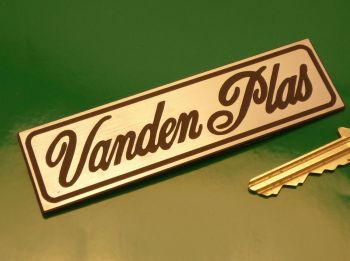 "Vanden Plas Laser Cut Self Adhesive Car Badge. 4"""