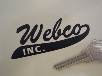 "Webco Inc Cut Vinyl Stickers. 3.5"" Pair."