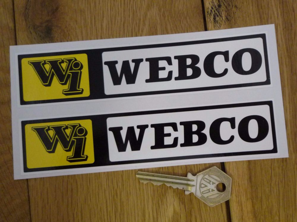 """Webco Wi Oblong Stickers. 6.5"""" Pair."""